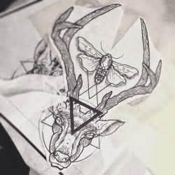 Flying Lotus Clock Catcher Deer Geometry By Dasleitbild Tattoos By