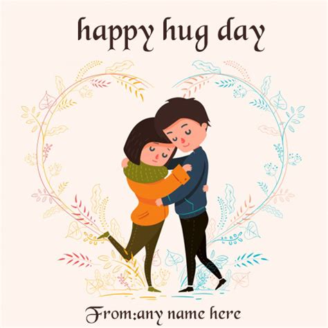 happy hug day wishes greeting card   images
