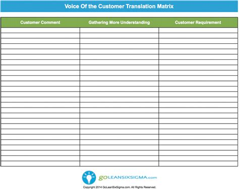Voice Template voice of customer template quotes