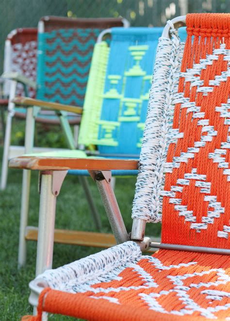 Macrame Lawn Chair by Macrame Chair Videomacrame Chair
