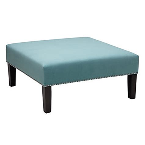 z gallerie ottoman square cocktail ottoman aquamarine ottomans living