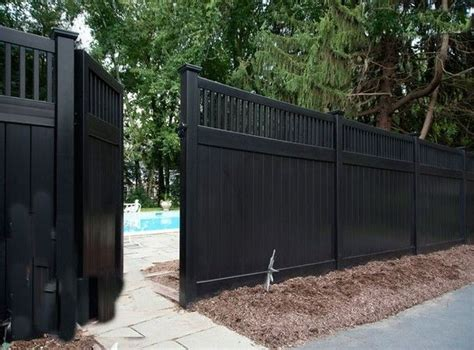 black vinyl fence gate backyard fences backyard fence