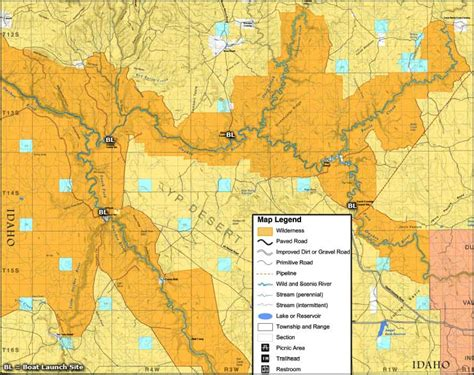owyhee canyonlands map owyhee river wilderness