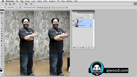 align and distribute layers in photoshop auto align layers to fix faces and create multiplicity in