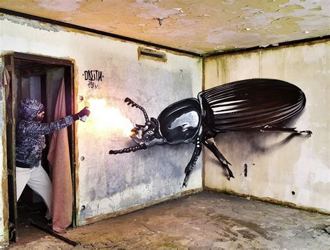 graffiti larger  life insects