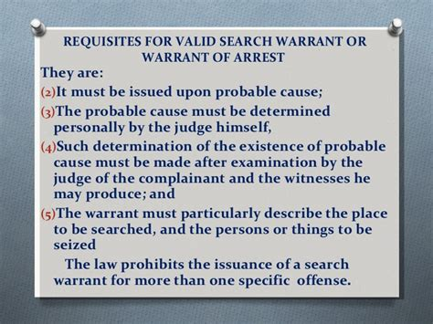 How Is A Search Warrant Valid Article Iii Bill Of Rights