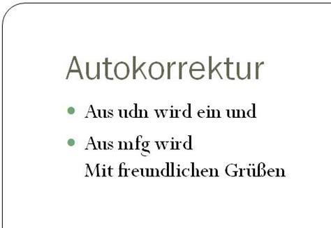 Mit Freundlichen Grüßen Oder Mfg Autokorrektur In Powerpoint