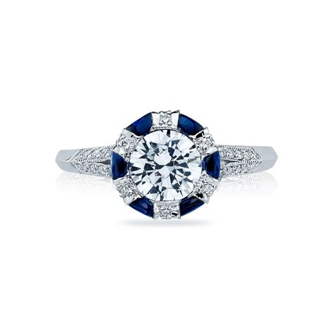 Tacori Engagement Rings by Tacori Engagement Rings Sapphire Adorned Setting 0 75ctw