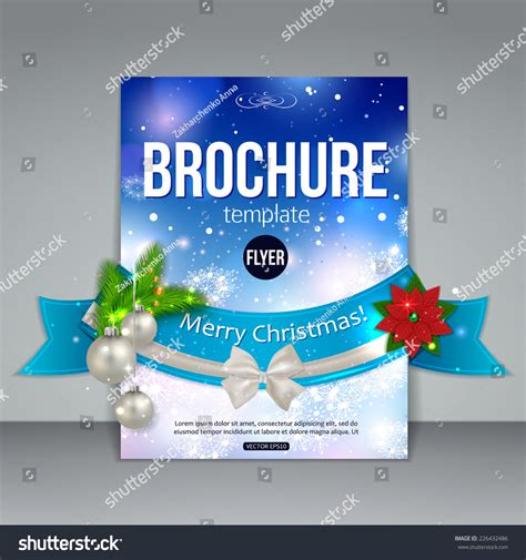 christmas brochure template abstract flyer design stock