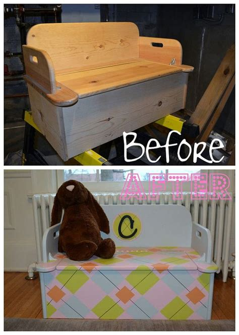 diy toy chest bench argyle toy box toys boys and toy boxes