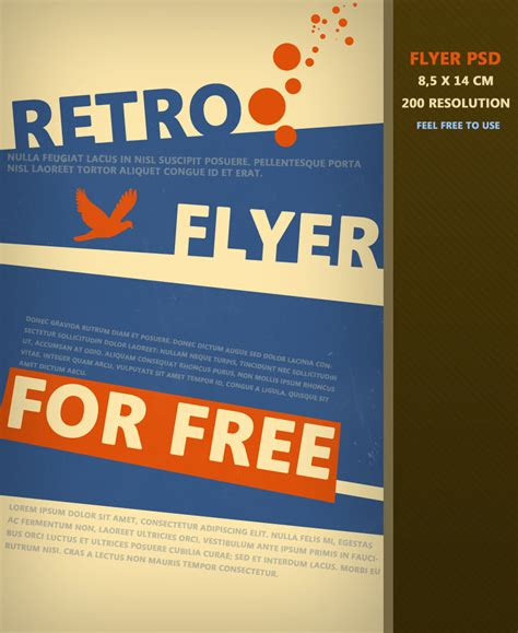 retro flyer psd by martz90 on deviantart