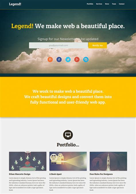 page template psd 20 free high quality psd website templates hongkiat