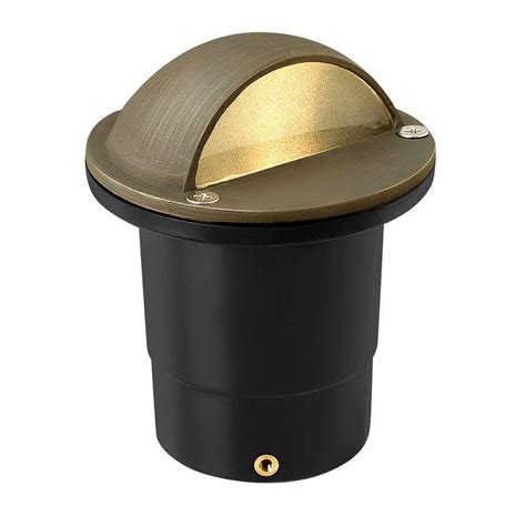 Landscape Well Lights Hinkley Lighting Low Voltage 20 Watt Matte Bronze Hardy Island In Ground Outdoor Well Light