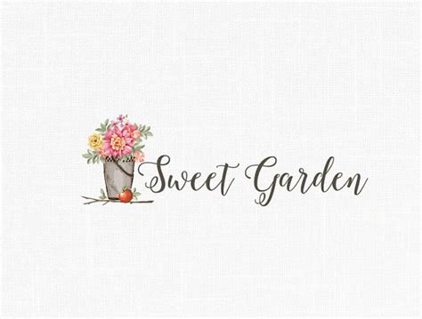 home decoration logo custom photography logo home decor logo garden logo vintage