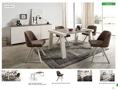 Dining Room Chairs Modern Reyna Dining Room With Albi Chairs Modern Formal Dining Sets Dining Room Furniture