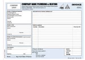 plumber invoice template invoice books for plumbers personalised duplicate pads