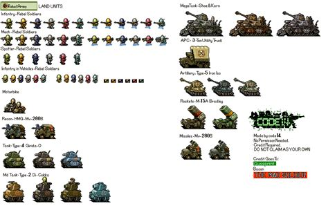 Jedai Reguler Transparan advance wars rebel army land units by code14 on deviantart