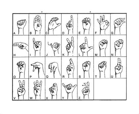 sign language alphabet chart 10 sle sign language alphabet charts sle templates