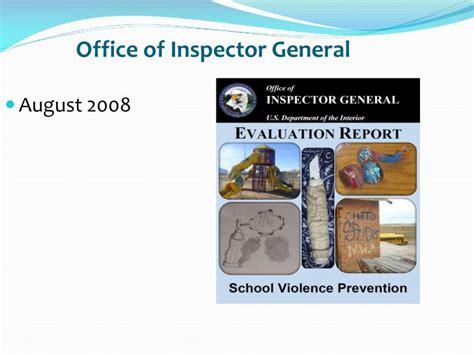 Office Inspector General Ppt Presenter Walter Goodwin Jr School Safety