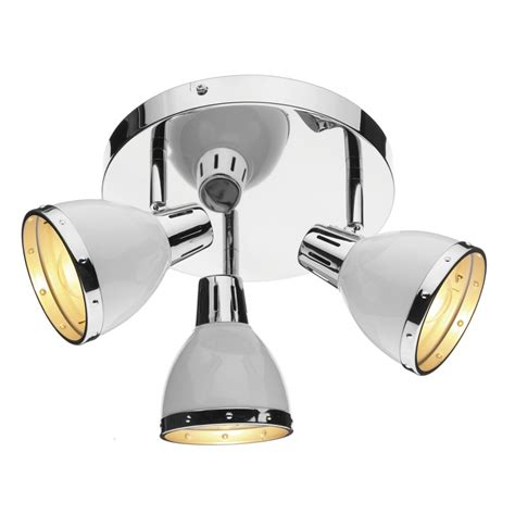 Spot Light Ceiling Polar Chrome White Circular Ceiling Spotlights