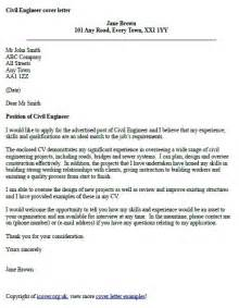 Engineer Cover Letters by Civil Engineer Cover Letter Exle Cover Letter