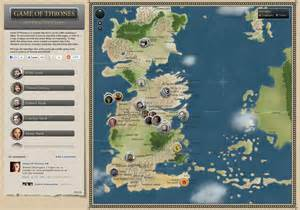interactive map of of thrones interactive map visual ly
