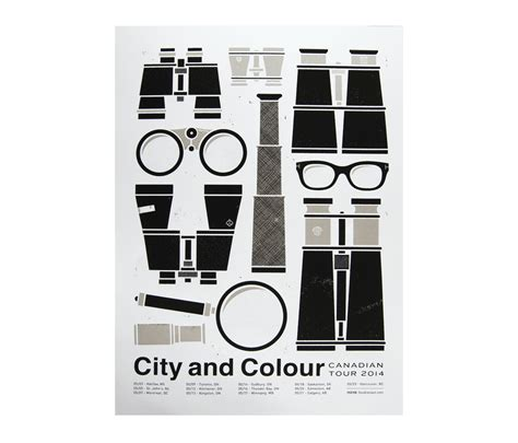 city and color tour canada tour 2014 poster posters city and colour