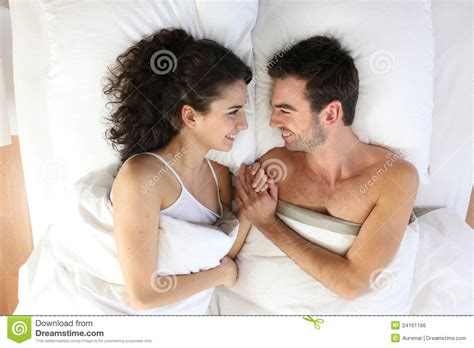 couple in bed couple lying in bed royalty free stock image image 24161166