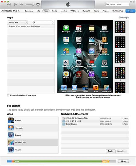 itunes file sharing section sketchclub itunes file sharing