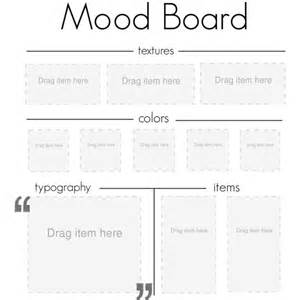 mood board template polyvore
