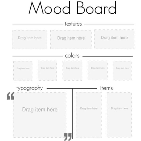 photo board template mood board template polyvore