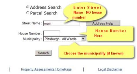Allegheny County Records Property Allegheny County Property Tax Assessment Search Lookup
