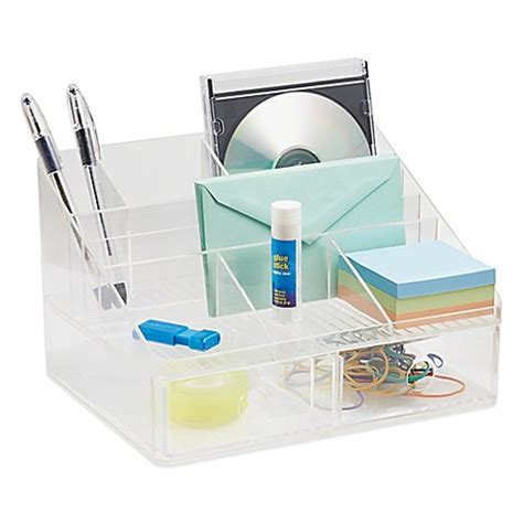 Clear Desk Organizer Interdesign 174 Linus Clear Desk Organizer Collection Gt Interdesign 174 Linus Clear 2 Drawer Desk