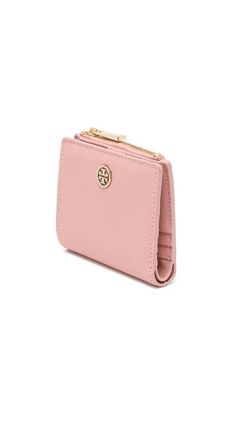 Torry Burch Wallet Leather Burch Robinson Mini Wallet Iceberg In Pink Lyst
