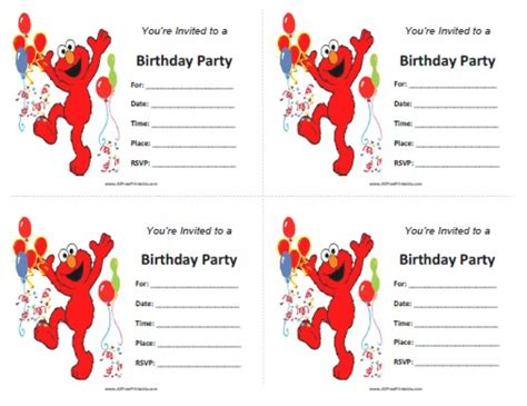 Elmos Invitation Free Printable Orderecigsjuice Info Elmo Birthday Invitations Template Free