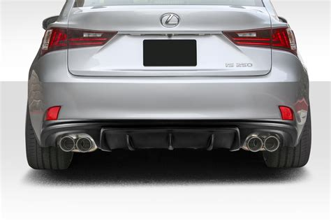 lexus rear bumper 14 15 lexus is am design duraflex rear bumper lip kit