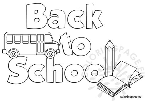 starting school coloring sheet coloring pages