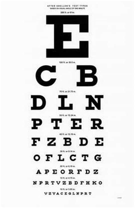 full size printable eye chart 10 foot snellen eye chart