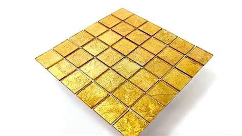 fliese gold bad bord 252 re glasmosaik effekt fliese gold 48x48x4mm