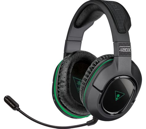 Headset Pc turtle stealth 420x wireless 2 0 gaming headset black green deals pc world