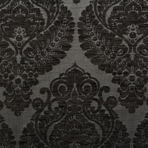 pattern black fabric heavy weight velvet chenille floral damask dfs sofa