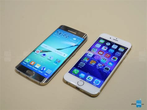 samsung galaxy  edge  iphone  battle   smartphones tech gadget central