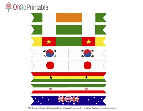 printable flags of the world cup 2014 free world cup soccer printables from ohsoprintable