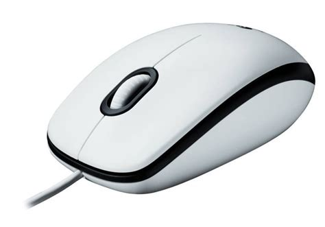 Mouse Logitech Usb M100 logitech m100 white optical wired mouse usb ebuyer