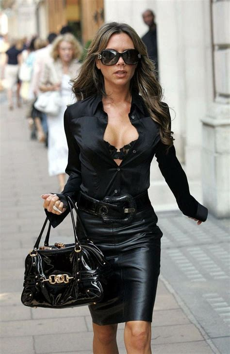 The Posh Becks Show Yes by In Black Leather Skirt My Style My