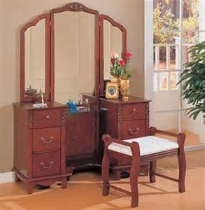 Makeup Vanity Dressing Table Set Cherry Dressing Table Set Traditional Bedroom Makeup