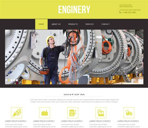 20 Free Responsive And Mobile Website Templates Bittbox Industrial Responsive Website Templates Free