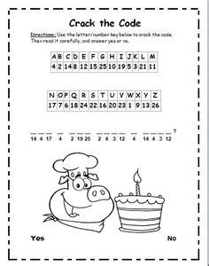 cracking the doodle code the code penguin facts codebreaker worksheet