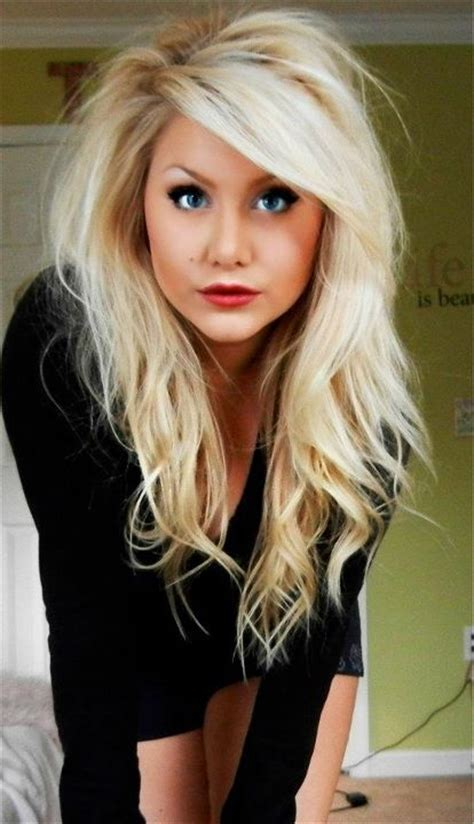 blonde that just got her hair cut big teased hair i wish my hair could look like this
