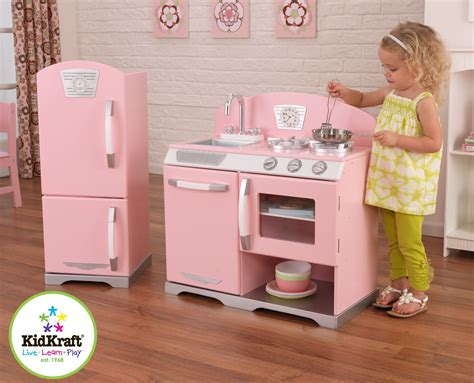 Pink Wooden Kitchen by Wood Play Kitchen Sets Homesfeed